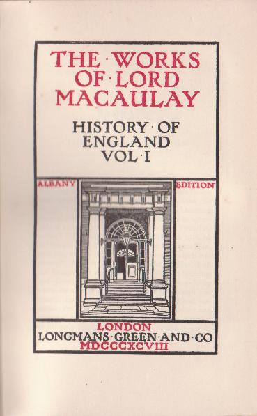 Lord Macaulay's Complete Works in 12 volumes in The Albany Edition. For sale in New Zealand